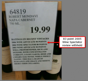 Costco shelf talker