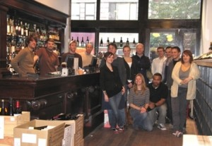The staff at Chambers Street Wine