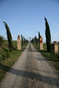 The entrance to a Tuscan estate