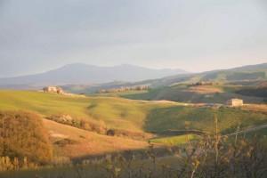 The hills surrounding Montalcino.  Photo by Morgan Dawson Photography.