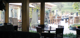 The patio is available when the sun shines bright and warmer weather arrives.