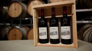Jordan offers custom 3 bottle wooden crate, bottles signed by John Jordan