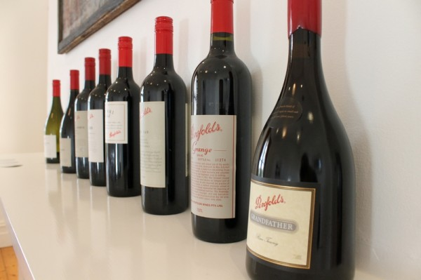 Penfolds current release tasting lineup1