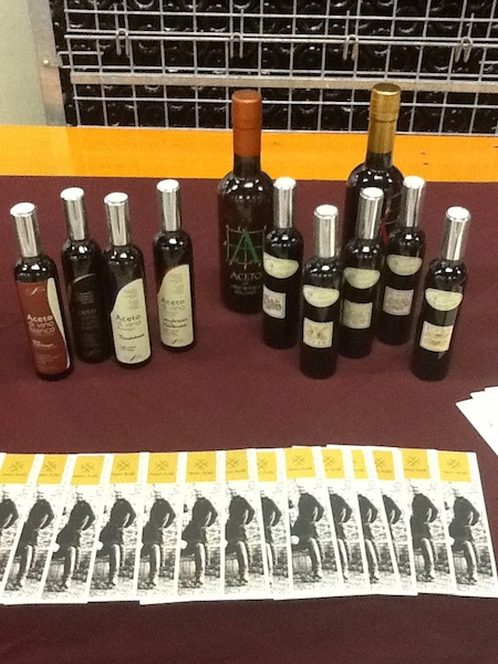 Selection of gourmet Italian vinegars