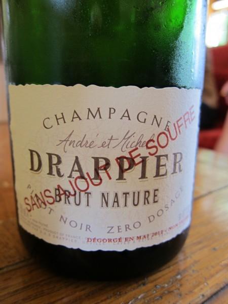 drappier no sulfur wine