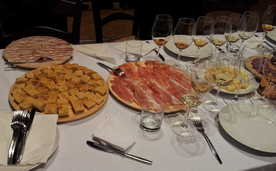 Some of the antipasti after the tasting at Fiegl