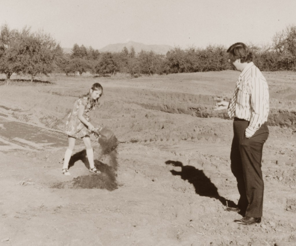 Dave and daughter Kim break ground at Dry Creek Vineyards