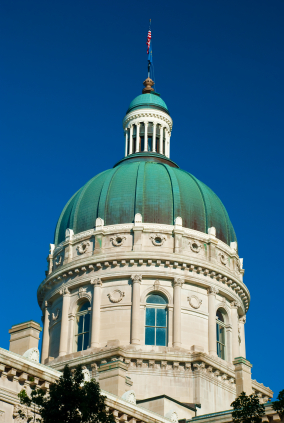 Indiana State Capital Building Dome