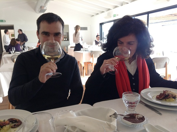Esparao winemaker Luis Patrao and wines of Alentejo Maria Amelia at Esporao restaurant