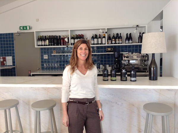 Maria Roquette of Esperao in the tasting room