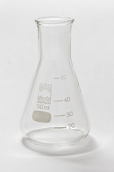 An Erlenmeyer flask.  Photo: Creative Commons - Lucasbosch