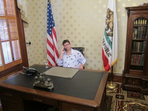 In the governor's chair