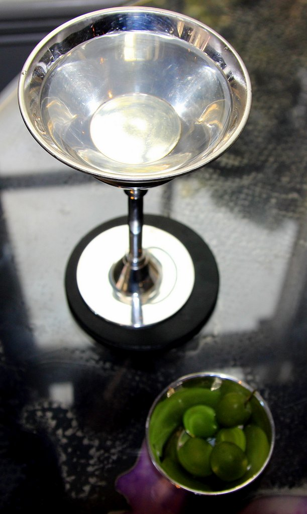 A gin martini served at the popular Hotel Artesian bar in London. Photo, Michelle Locke