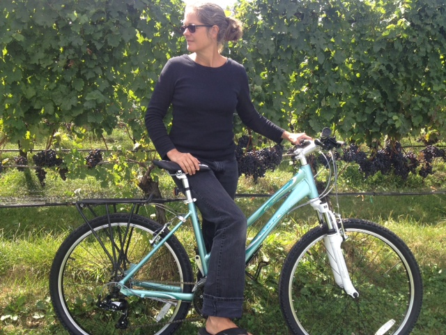 Barbara on bike