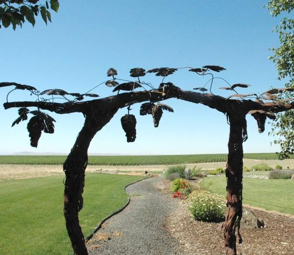 McKinley Springs overlooks 2,000 acres of estate vines in the Horse heaven Hills.