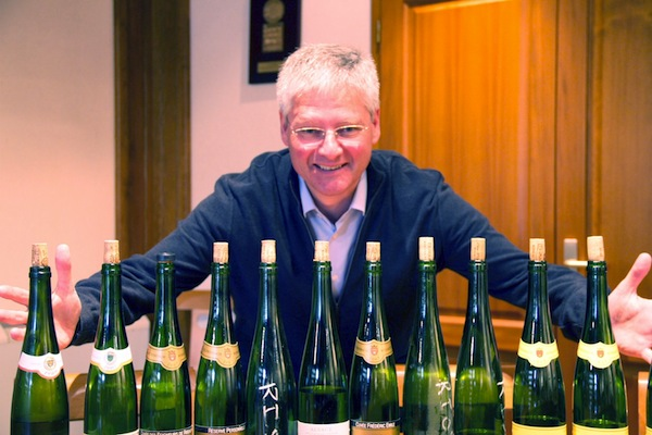 jean trimbach with the tasting lineup