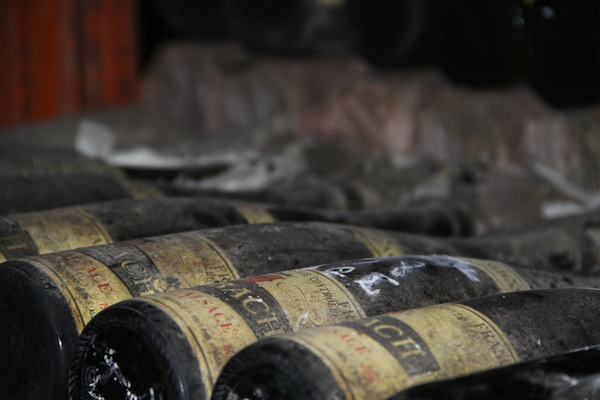 old bottles at Trimbach