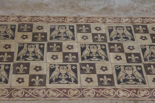 Chateau Leognan chapel floor