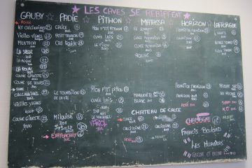 Wine list in heart of Rivesaltes w no dessert wines