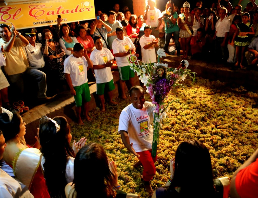 La Vendimia, the traditional pisco harvest celebration, at the Bodega El Catador distillery in Ica