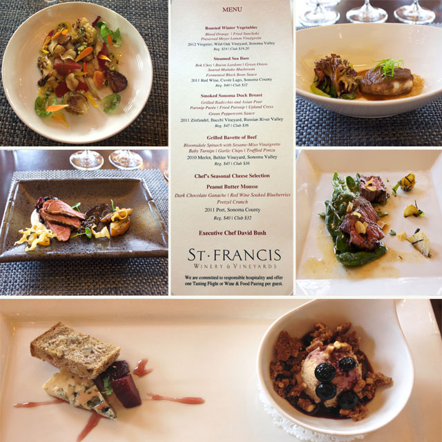 Food and Wine Experience at St. Francis Winery