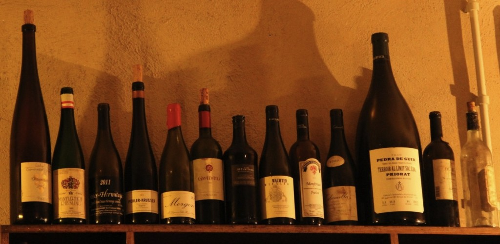 bottles at terroir al limit