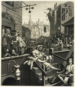 """Gin Lane"" by William Hogarth"