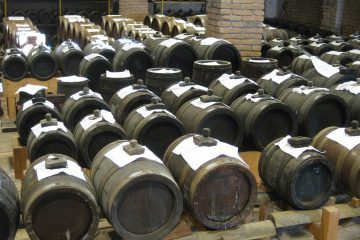 Barrels of Balsamic vinegar at Acetaia
