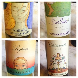 Donnafugata White Wine Labels