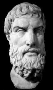 A Roman bust of Epicurus