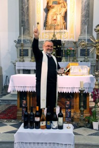 blessing the wines