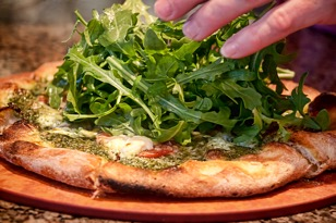 DANCIN Vineyards, pizza (photo courtesy of winery)