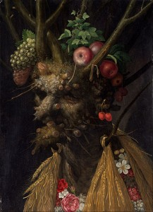 """Four Seasons in One Head"" by Giuseppe Arcimboldo"