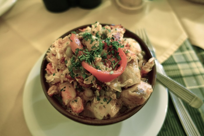 crab and octopus casserole