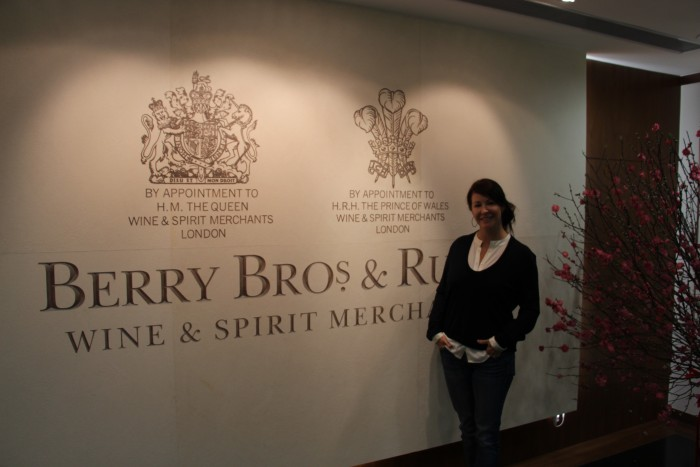 Amanda Longworth at Berry Bros Hong Kong from David Rogers Feb 2016