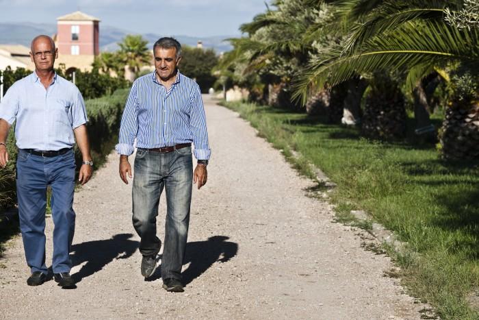 Giambattista Tallia and Giulio Occhipinti at Azienda Agricola Cos,Acate