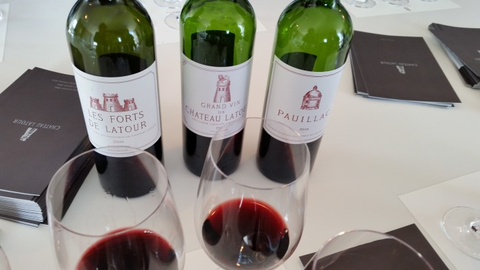 Tasting at Chateau Latour