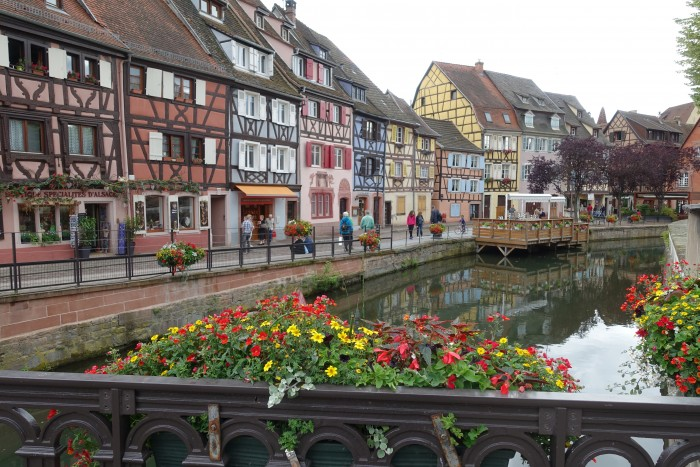 The town of Colmar in Alsace, near the German border