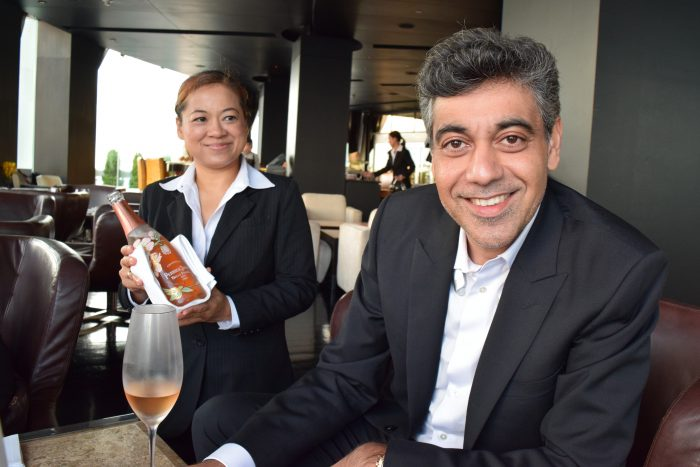 Lebua CEO Deepak Ohri with his drink of choice
