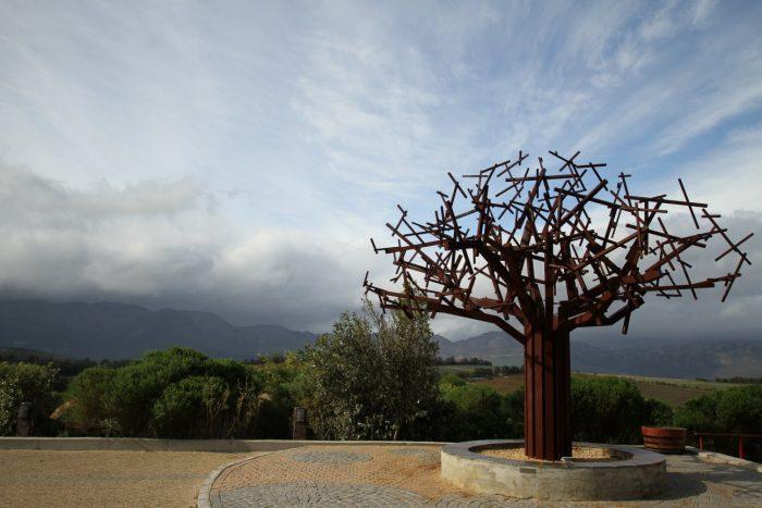Waterkloof winery sculpture. Photo (c) Simon Woolf