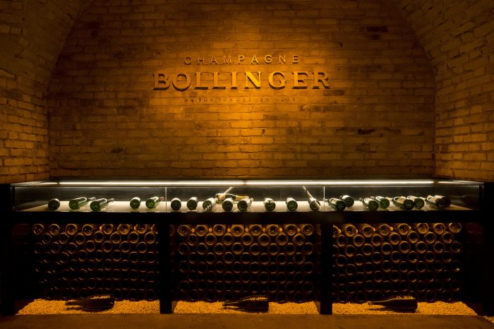'Champagne Bollinger' Cellar Sign